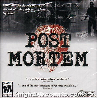 POST MORTEM Adventure PC Game Windows 98-XP NEW