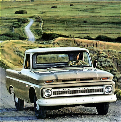 1966 Chevrolet C-10 Pickup Truck, Beige/White, Refrigerator Magnet for sale  East Troy