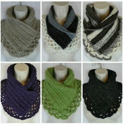 Crochet lacey Charma neck warmer scarf pattern PATTERN ONLY Quick Simple Easy  Neck Scarf Patterns