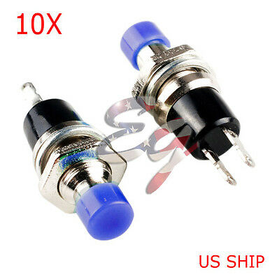 Blue 10pcs 7mm Mini Momentary Onoff Lockless Micro Push Button Spst Switch