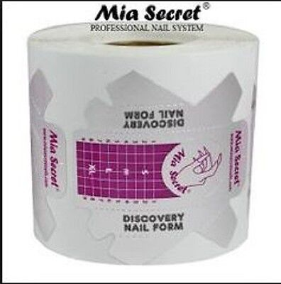 100 PCs Mia Secret DISCOVERY Nail Form for Professional Nail System USA