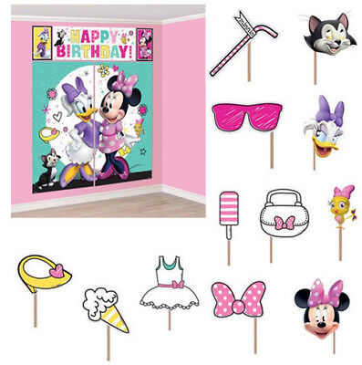 MINNIE MOUSE Helper Scene Setter BIRTHDAY party wall decor w12 photo booth props ()