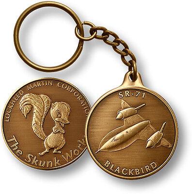 Lockheed Martin   Skunk Works   Sr 71 Blackbird    Challenge Coin Key Chain