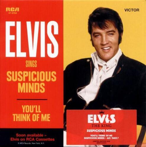 cd single - Elvis - Suspicious Minds