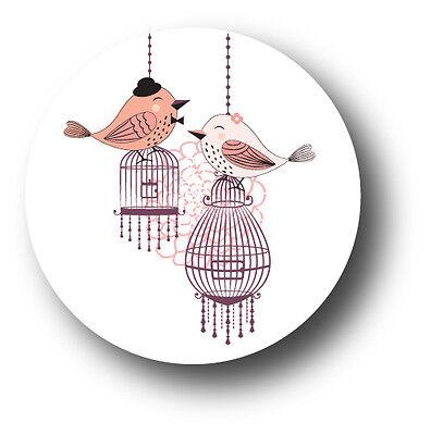 30 Love Birds Vintage Wedding Invitation Envelope White Sticker (Love Birds Wedding Invitation)