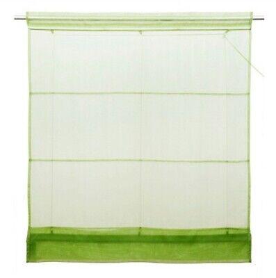 1 X Pieza Estor Plegable 100 x 155 Verde Transparente Cortina Romana...