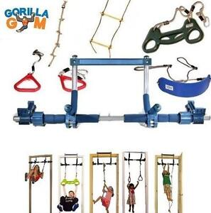 NEW* GORILLA GYM KIDS INDOOR SET INDOOR SWING, PLASTIC RINGS, TRAPEZE BAR, CLIMBING LADDER AND SWINGING ROPE 109060236