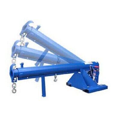 New Adjustable Pivoting Forklift Jib Boom Crane 6000 Lb. 24 Centers