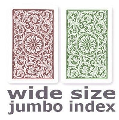 (Copag 1546 Green & Burgundy  Wide - Jumbo Index Playing Cards)