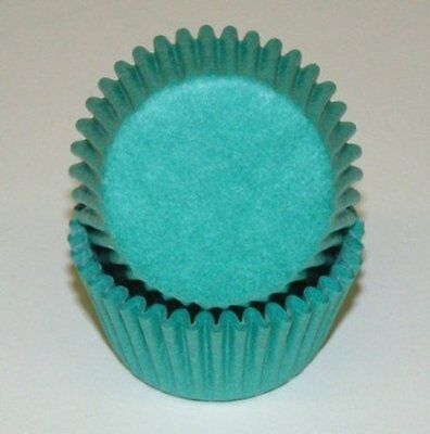 TEAL SOLID COLOR - GLASSINE CUPCAKE LINERS - 50 Ct. Standard Size - Colored Cupcake Liners