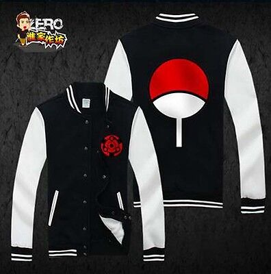 Anime NARUTO Uchiha Sasuke Sharingan Unisex Sweatshirt Hoodie Winter jacket coat for sale  Shipping to Canada