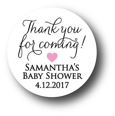 30 Baby Shower Personalized Stickers - Thank you for coming! with heart](Personalized Baby Stuff)