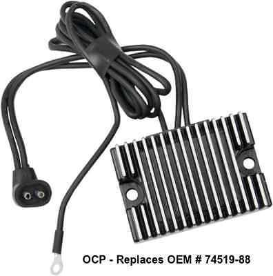 Black Voltage Regulator for Harley Fat Boy 1990-99 Repl. OEM# 74519-88