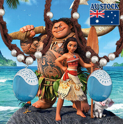 Jewellery - Disney Movie Moana Blue Magic Stone Pendant With Rope Pearl Necklace Cosplay