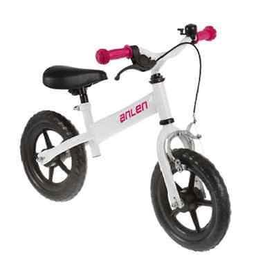 Prebici Con Freno Blanco Rosa Niño Bicicleta Sin Pedales Chica Juguete Nuevo