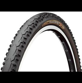 2 x Continental Travel Contact Road Tyre, Black, Folding Bead, 700c, 37c. Nearly New.