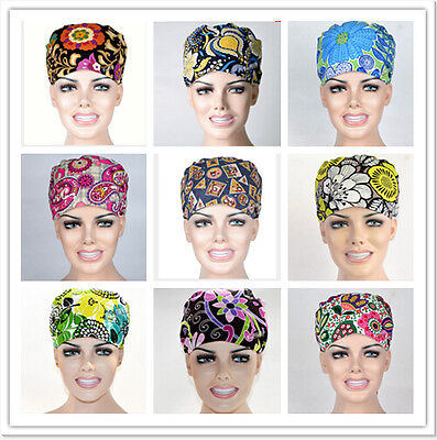 9 Kinds Pattern flower Printing Scrub Cap Medical Surgical Surgery Hat/Cap