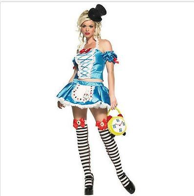 Halloween Fairy Tale (Women's Sexy Alice In Wonderland Fairy Tale Princess Halloween)