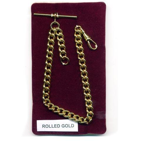 Albert Chain Solid Rolled Gold Single Pocket Watch Fob Heavy Duty BNIB - FA431