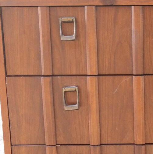 Dixie Mid Century Modern MCM Dresser Pull Handle Brass