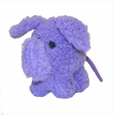 "VOTOYS XPET 7"" FLEECE PURPLE ELEPHANT SQUEAKER DOG TOY. FREE SHIPPING TO THE USA"