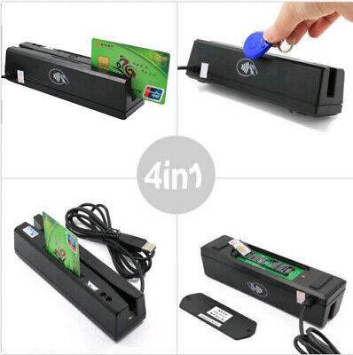 Zcs160 4-in-1 Magnetic Card Reader Emvic Chiprfidpsam Reader