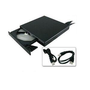 New Slim External USB 2.0 DVD-ROM CD-ROM Drive for Laptop Notebook PC Portable