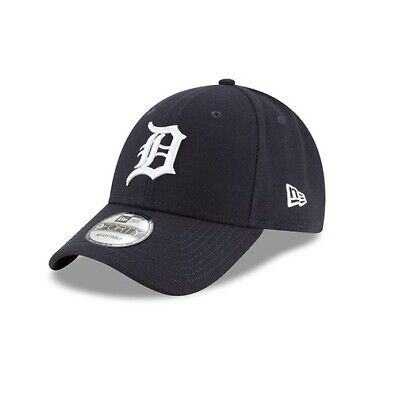 New Era 9FORTY MLB Detroit Tigers Navy Curved Peak Strapback Hat Baseball Cap