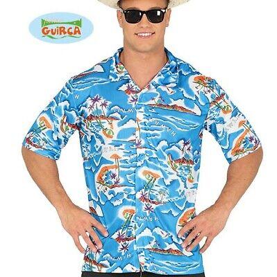 Mens Hawaiian Fancy Dress Shirt Tourist Costume Shirt Hawaaiian Stag Do New - Hawaiian Tourist Costume