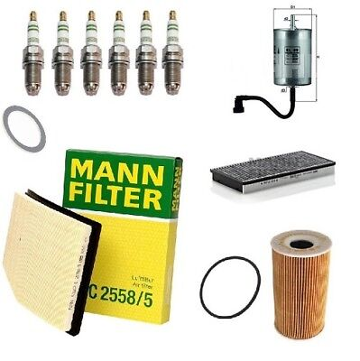 Service Kit For Porsche Boxster 986 2.7 3.2 Air Oil Fuel Cabin Filter Sparkplugs