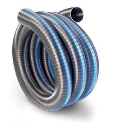 Tubo flessibile acciaio inox per canna fumaria pellet camino con interno liscio