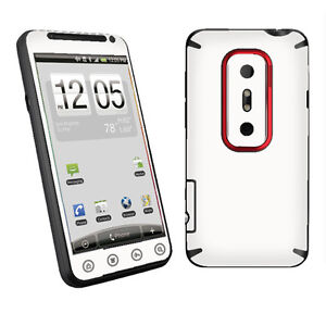 WHITE-Decal-Skin-To-Cover-Your-HTC-EVO-3D-4G-Case
