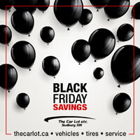 Black Friday Savings Event at The Car Lot etc. 2231 Lasalle