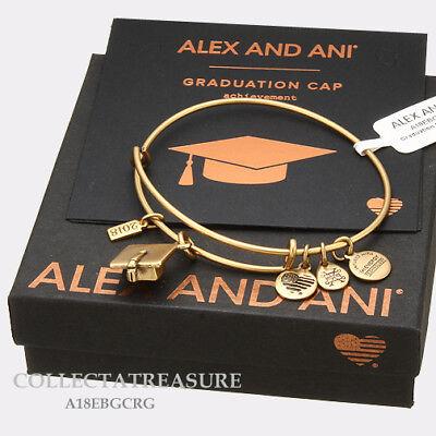 Authentic Alex And Ani Graduation Cap 2018 Rafaelian Gold Charm Bangle