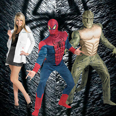 The Amazing Spider Man Costume Adult (Adult Marvel Comics Movie The Amazing Spider-man Muscle DLX Lizard Gwen)