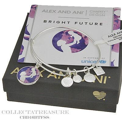 Authentic Alex And Ani Bright Future Shiny Silver Charm Bangle Cbd
