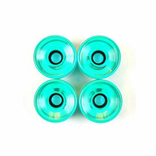 Pro Longboard Cruiser Skateboard Wheels 70mm Trans Aqua +Abec 7 Bearings