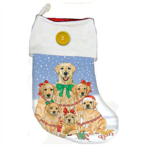 Labrador Yellow Lab Christmas Stocking