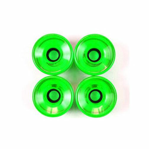 Pro Longboard Cruiser Skateboard Wheels 76mm Trans Green +Abec 7 Bearings