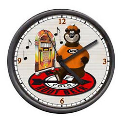 A&W A & W Rootbeer Root Beer Juke Box Retro Vintage Style Diner Sign Wall Clock
