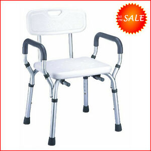 Safety Elderly Shower Chair Seat Bathroom Bench Toilet Stool Bath Tub Handicap