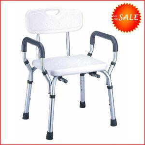 Safety Elderly Shower Chair Seat Bathroom Bench Toilet