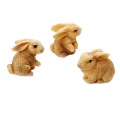 Miniature Fairy Garden Rabbits - Set of 3 - Buy 3 Save $5
