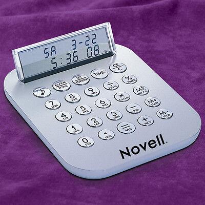 Metal See Thru Lcd Display Calculator Alarm Clock World Currency Converter