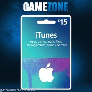 iTunes Gift Card £15 GBP UK Apple iTunes Code 15 Pound United Kingdom