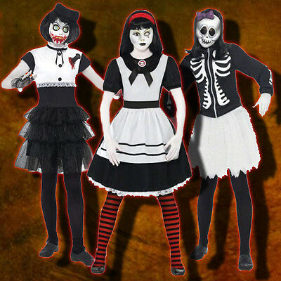 Adult Living Dead Dolls Calavera Sanguis Alice in Wonderland Halloween Costume