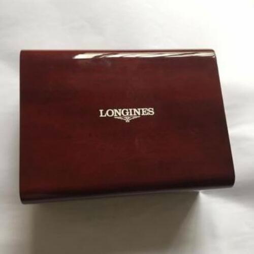 New Longines Master Collection Burgundy Wood Watch Box with outer Box