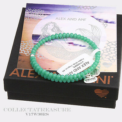 Authentic Alex And Ani Pebble  Tropical Rafaelian Silver Bangle Wrap