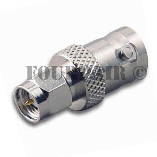 SMA Male Plug to BNC Female - RF Coax Wifi Antenna Adapter Converter Connector