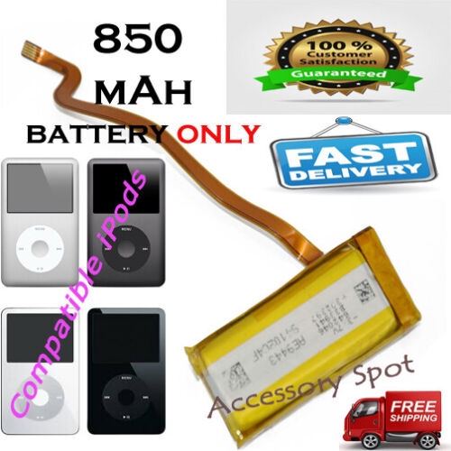 850 mAh Replacement Extended battery for iPod classic 5th 6th gen 30GB A1238
